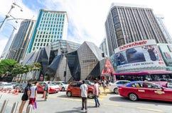 De Starhillgalerij is een luxe kleinhandelsdiewandelgalerij in het winkelen van Bukit Bintang district van KL, Maleisië wordt gev stock afbeeldingen