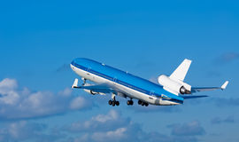 De start van het vliegtuig Royalty-vrije Stock Foto's