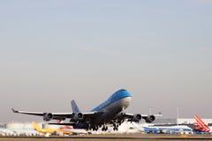 De start van het vliegtuig Royalty-vrije Stock Fotografie