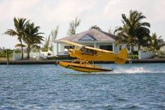 De start van het watervliegtuig Royalty-vrije Stock Foto's