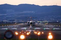 De Start van vliegtuigen Stock Foto