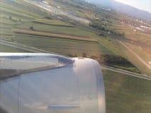 De start van vliegtuigen stock footage