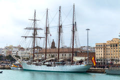 de statek Elcano Juan Sebastian Zdjęcia Stock