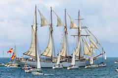 de statek Elcano Juan Sebastian Zdjęcia Royalty Free