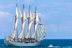 de statek Elcano Juan Sebastian Fotografia Royalty Free