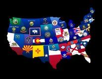De Staten van de V.S. Stock Afbeeldingen