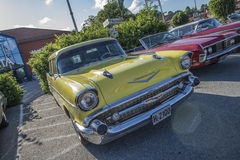 1957 de stationcar van Chevrolet Bel Air Townsman Royalty-vrije Stock Foto's