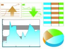 De statistiek van grafieken Royalty-vrije Stock Afbeeldingen