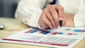 De Statistieken van managerexamines start up stock videobeelden