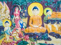 De Status van Boedha bij Tempel Famen royalty-vrije stock afbeeldingen