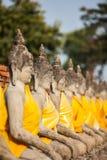 De Status van Boedha in Wat Yai Chaimongkol Thailand Royalty-vrije Stock Afbeeldingen