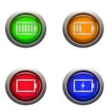 De status van het batterijleven Stock Afbeelding