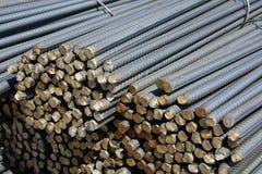 De staven van het staal stock afbeeldingen