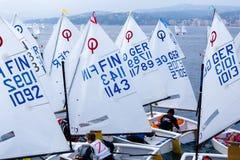 de 29ste Internationale Palamos-Optimistentrofee 2018, 13de Naties vormt, 16 Februari tot een kom 2018, Stad Palamos, Spanje Stock Afbeeldingen