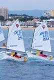 de 29ste Internationale Palamos-Optimistentrofee 2018, 13de Naties vormt, 16 Februari tot een kom 2018, Stad Palamos, Spanje Stock Fotografie