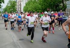 de 24ste marathon van Nordea Riga Stock Foto