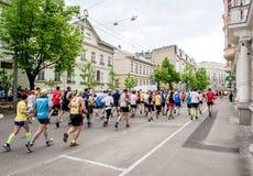 de 24ste marathon van Nordea Riga Stock Foto's