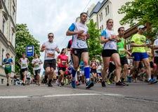 de 24ste marathon van Nordea Riga Royalty-vrije Stock Foto's