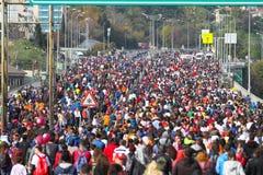 de 37ste Marathon van Vodafone Istanboel Stock Foto's