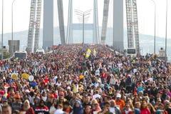 de 37ste Marathon van Vodafone Istanboel Stock Afbeelding