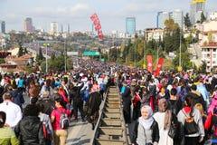 de 37ste Marathon van Vodafone Istanboel Stock Afbeeldingen