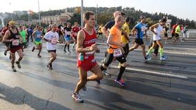 de 37ste Marathon van Vodafone Istanboel Royalty-vrije Stock Fotografie