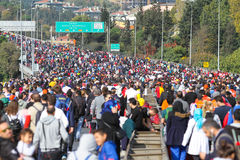 de 37ste Marathon van Vodafone Istanboel Stock Foto