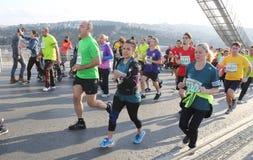 de 37ste Marathon van Vodafone Istanboel Royalty-vrije Stock Foto's