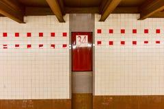 de 34ste Post van de Straatmetro - NYC Stock Foto