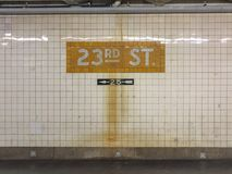 de 23ste post van de straatmetro Royalty-vrije Stock Foto