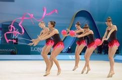 de 32ste Ritmische Kampioenschappen van de Gymnastiekwereld Stock Foto