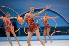 de 32ste Ritmische Kampioenschappen van de Gymnastiekwereld Stock Foto's