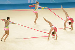 de 32ste Ritmische Kampioenschappen van de Gymnastiekwereld Stock Afbeeldingen
