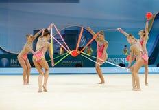 de 32ste Ritmische Kampioenschappen van de Gymnastiekwereld Stock Afbeelding