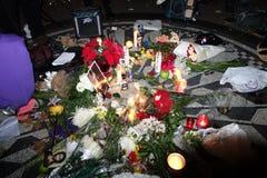 De 34ste Verjaardag van de Dood van John Lennon in Strawberry Fields 36 Stock Foto's