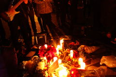 De 34ste Verjaardag van de Dood van John Lennon in Strawberry Fields 57 Stock Afbeelding