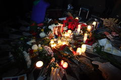 De 34ste Verjaardag van de Dood van John Lennon in Strawberry Fields 58 Stock Afbeeldingen