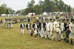 De 225ste Verjaardag van de Overwinning in Yorktown, het weer invoeren van de belegering van Yorktown, waar Algemeen George Washi Royalty-vrije Stock Afbeeldingen