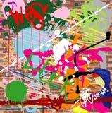 De stedelijke achtergrond van Grunge Stock Foto