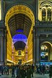 De stedelijke duomopiazza van de nachtscène stad van Milaan, Italië stock afbeelding