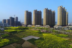 De stedelijke en landelijke regelingen van China ` s Stock Foto
