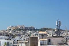 De Stedelijke Mening van de akropolis Royalty-vrije Stock Foto's
