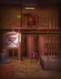 De stedelijke Scène van de Fabriek Stock Afbeeldingen