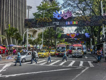 De Stedelijke Scène van de Medellindag Stock Fotografie