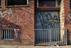 De stedelijke Scène van de Stoep Stock Afbeeldingen