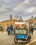 De stedelijke Scène van de de Winterstraat, Rome, Italië royalty-vrije stock fotografie