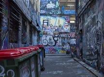 De Stedelijke Steeg Street Art van Melbourne stock fotografie