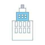 De stedelijke torenbouw Stock Afbeeldingen