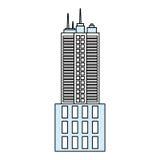 De stedelijke torenbouw Stock Foto