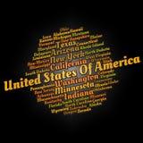 De steden van Verenigde Staten Stock Afbeeldingen